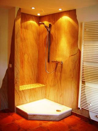Neugestaltung einer Dusche mit FlexSandstein