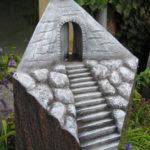 Individuelle Bildhauerarbeit in Form eines Himmelstors